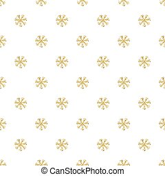SEAMLESS GOLD GLITTER SNOWFLAKES PATTERN ON WHITE BACKGROUND