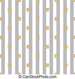 seamless gold glitter square pattern with grey stripe background