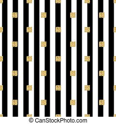 seamless gold glitter square pattern with stripe background