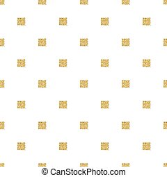 seamless gold glitter square pattern with white background