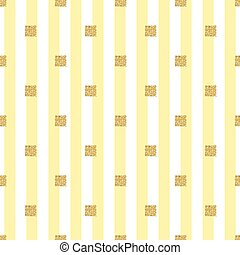 seamless gold glitter square pattern with yellow stripe background