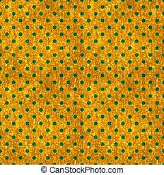Seamless Gold & Green Polka Dot