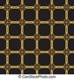 seamless gold lattice - seamless texture with gold bars