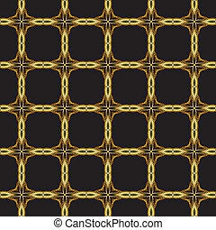 seamless gold lattice