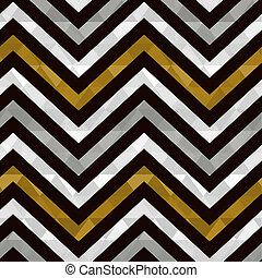 seamless gold zig zag pattern
