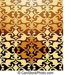 Seamless Golden Damask Pattern. Vector