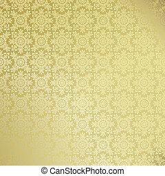 Seamless golden damask wallpaper - Damask wallpaper pattern...