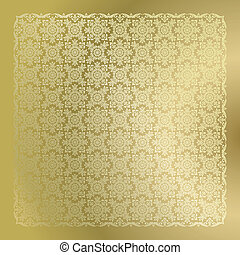 Seamless golden damask wallpaper