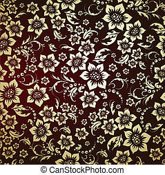 seamless golden floral pattern
