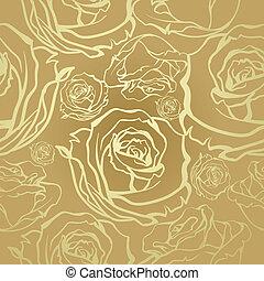 seamless golden roses - Seamless luxury vector vintage...