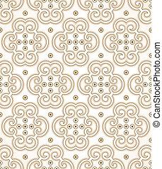 Seamless golden royal wallpaper