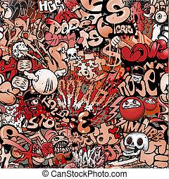 seamless graffiti pattern