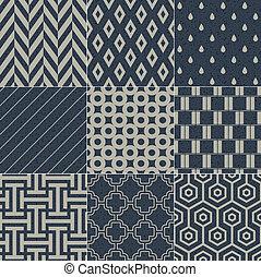 Seamless grain paper texture  Seamless geometric pattern