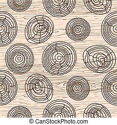 seamless, grano legno, pattern., struttura legno, vettore, fondo.