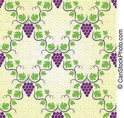 Seamless grape pattern