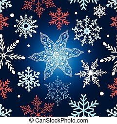 Seamless graphic pattern with snowflakes