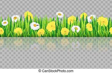 Seamless grass border