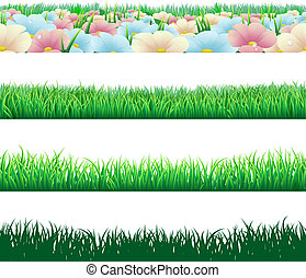 Seamless grass elements - A set of seamlessly tilable grass...