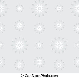 Seamless Gray Background with Daisy Flowers