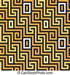 seamless Greek gold ornament, Meander