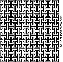 Seamless Greek Key Geometric Pattern Background