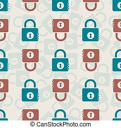 seamless green and red masterkey pattern background