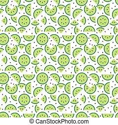 Seamless green apple pattern background