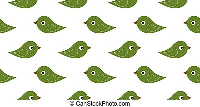 seamless green birds
