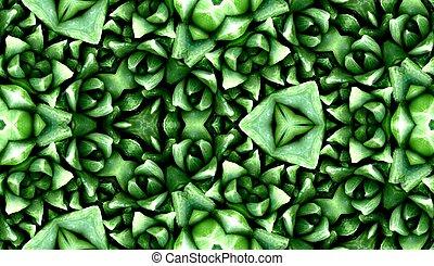 Seamless Green Cactus Pattern 3