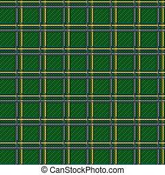 Seamless green checkered pattern