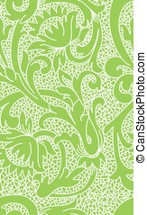 Seamless green floral lace pattern