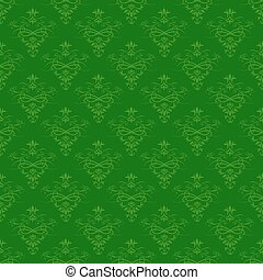 Seamless green floral pattern for background design