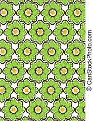 seamless green flower pattern