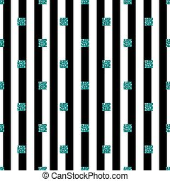 seamless green glitter square pattern with stripe background