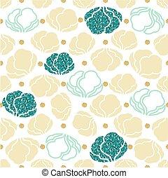 seamless green glitter vegetable with gold dot glitter pattern background