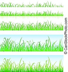 Seamless Green Grass Layers