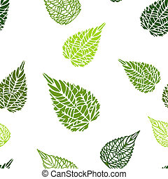 Seamless green leaves background - Seamless green leaves...