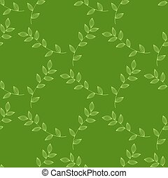 seamless green leaves background