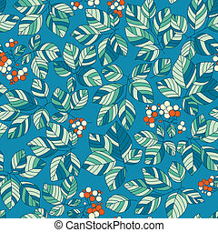 Seamless green leaves pattern
