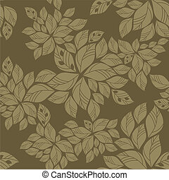Seamless green leaves pattern. This image is a vector ...