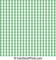Seamless green plaid pattern