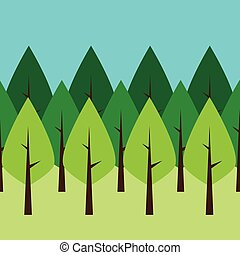 Seamless green trees
