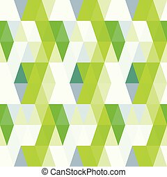 Seamless green vector pattern with triangles background