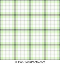 Seamless Green & White Plaid - Soft plaid in shades of green...