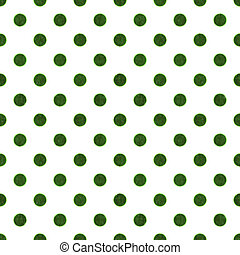 Seamless Green & White Polka Dot