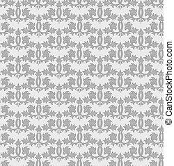 Seamless grey wallpaper pattern. Vector