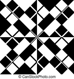 Seamless Grid Pattern. Vector Black and White Background....