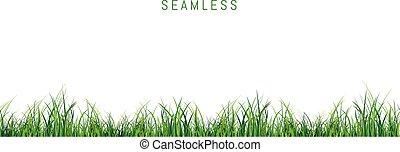 seamless, groene achtergrond, fris, witte , gras