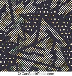 seamless, grunge, geomã©´ricas, efeito, padrão