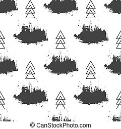Seamless grunge pattern. Brush strokes texture - Seamless...